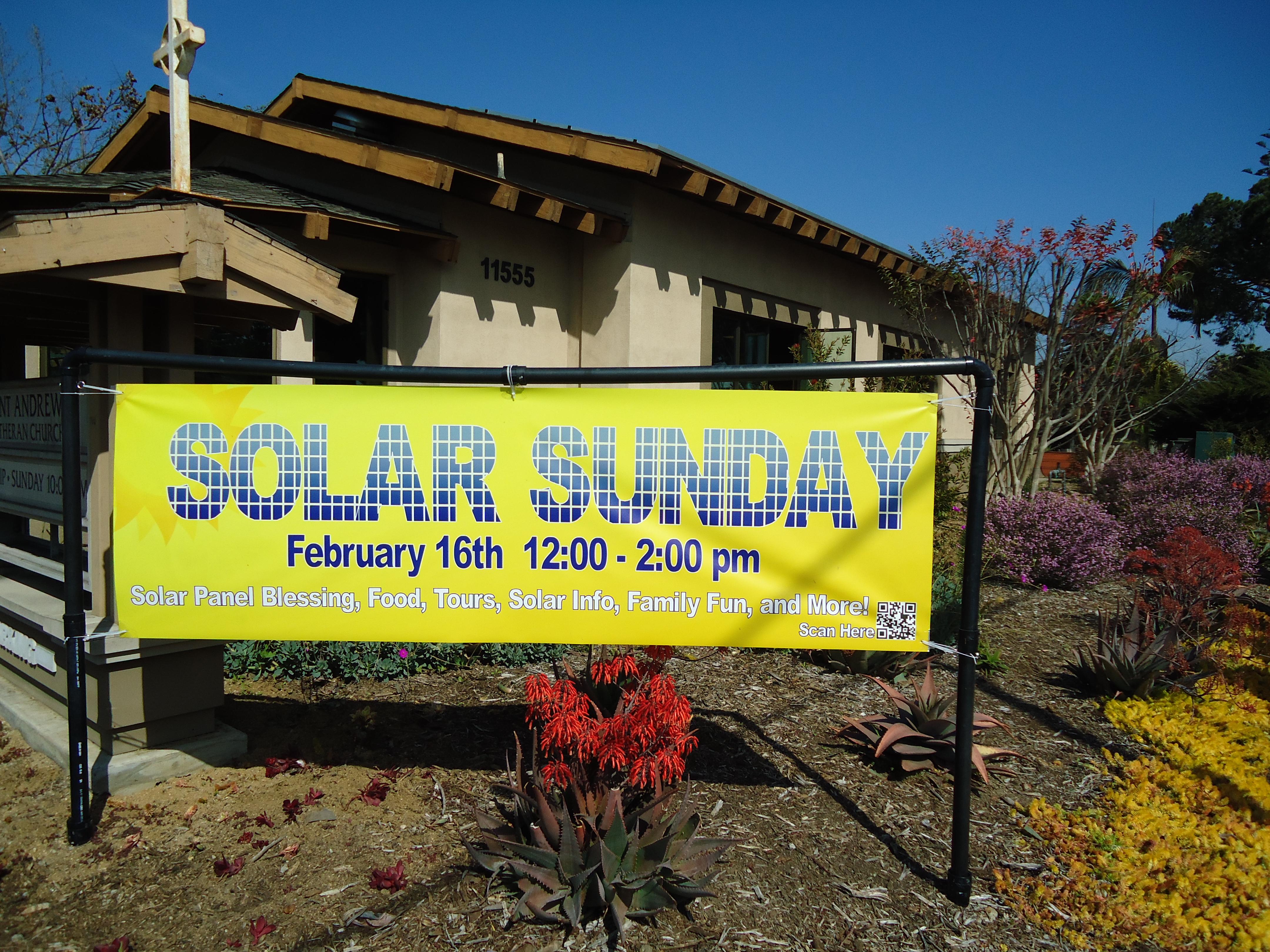Solar Sunday at St. Andrew's Lutheran Church